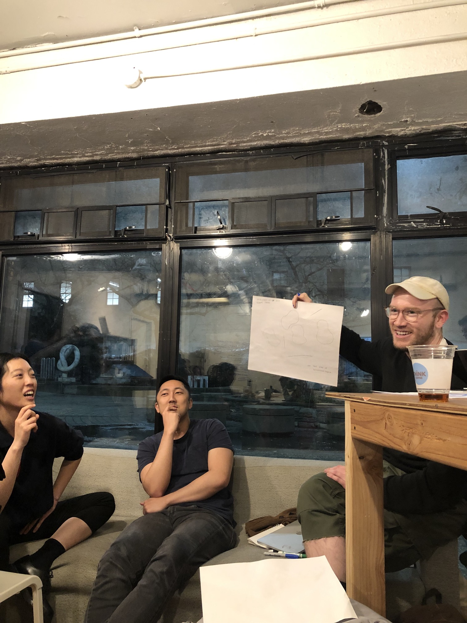 """""""Carlos Sanchez presenting a collaborative drawing with Songqiao Li."""""""